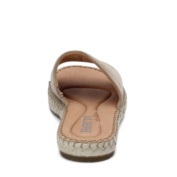 Born San Benito Sandal-Taupe Beige Suede