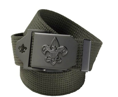 Boy Scouts Belt-Green - Bennett's Clothing