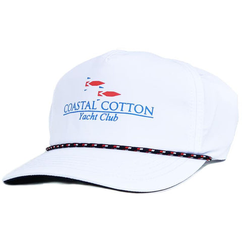 Coastal Cotton Vintage Yacht Club Hat is a throwback and old school. Shop Bennetts Clothing for the best in southern, preppy, name brand menswear