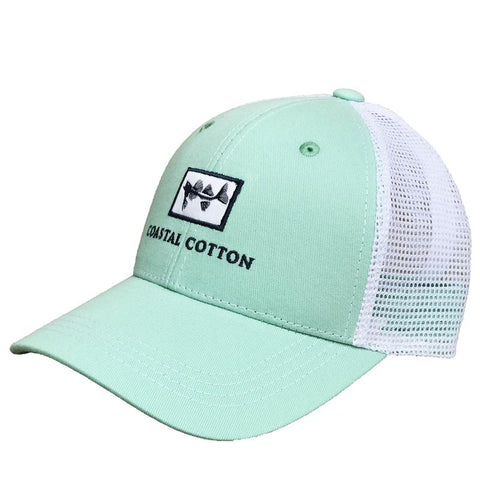 Coastal Cotton Logo Trucker Hat is a customer favorite. Shop Bennetts Clothing for the best in southern, preppy, name brand menswear