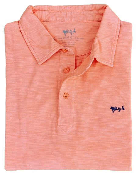 Coastal Cotton Slub Polo for men are soft and look great. Shop Bennetts Clothing for the best in southern, preppy, name brand menswear