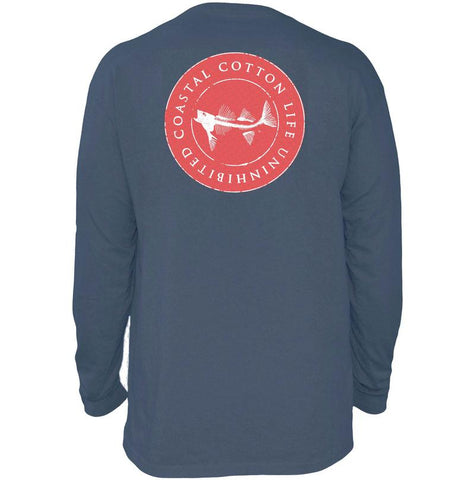 Coastal Cotton Circle Logo long sleeve t-shirt was made for us that enjoy the southern life year round. Shop Bennetts Clothing for the best in southern, preppy, name brand menswear