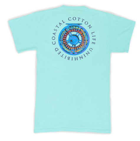 Coastal Cotton Reel t-shirt is a customer faves for being so soft and stylish. Shop Bennetts Clothing for the best in southern, preppy, name brand menswear