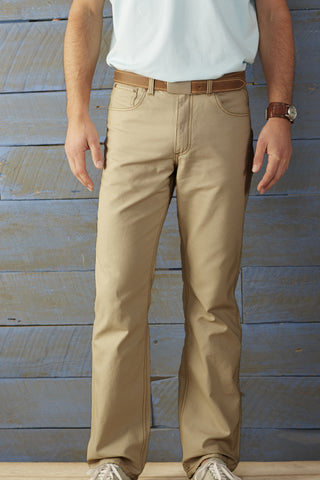 Coastal Cotton Canvas Pant-Tan - Bennett's Clothing