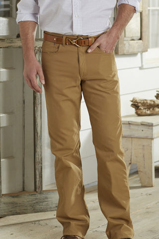 Coastal Cotton Canvas Pant-Tobacco - Bennett's Clothing