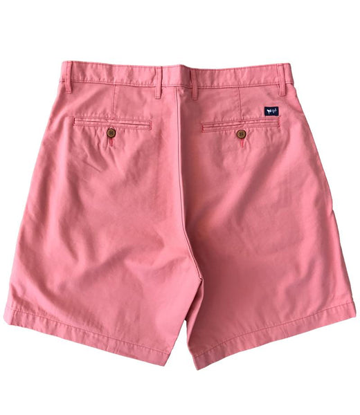 Coastal Cotton Mens Island Shorts-Salmon
