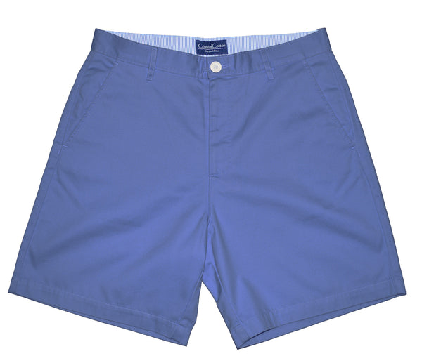 Coastal Cotton Mens Island Shorts-Surf Blue