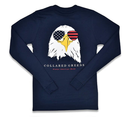 Collared Greens Camo Bald Eagle USA t-shirt is made in the USA from Organic cotton and feels amazing. Shop Bennett's for the brands you want with the prices and service you will love, shipped same day to your front door.