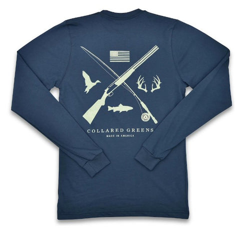 Collared Greens Field and Stream t-shirt is made in the USA from Organic cotton and feels amazing. Shop Bennett's for the brands you want with the prices and service you will love, shipped same day to your front door.