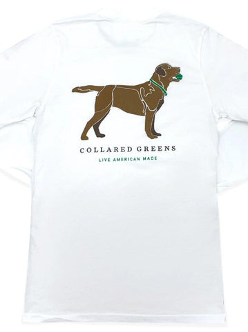 Collared Greens Good Boy Chocolate Lab t-shirt is made in the USA from Organic cotton and feels amazing. Shop Bennett's for the brands you want with the prices and service you will love, shipped same day to your front door.