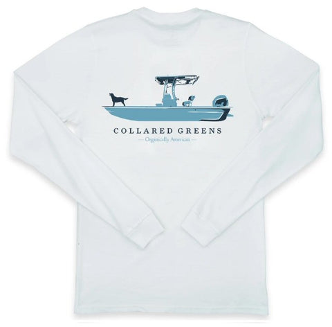 Collared Greens Weekend Skiff t-shirt is made in the USA from Organic cotton and feels amazing. Shop Bennett's for the brands you want with the prices and service you will love, shipped same day to your front door.
