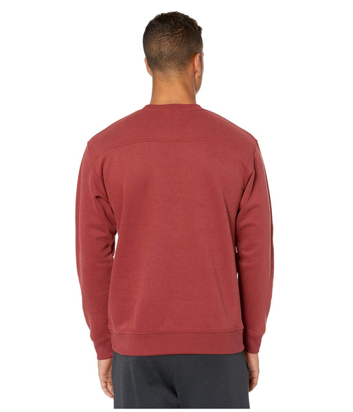Columbia Men's Hart Mountain II Crew Pullover Sweatshirt-Red Jasper
