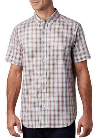 Columbia Rapid Rivers plaid shirt for men looks great along at the office or on the trail. Shop Bennetts Clothing for Columbia to fit the entire family