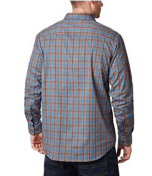 Columbia Mens Rapid Rivers II Long-Sleeve Shirt-Buffalo Small Plaid