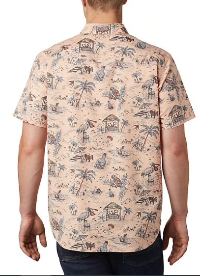 Columbia Rapid Rivers Print Short Sleeve Shirt-Light Coral