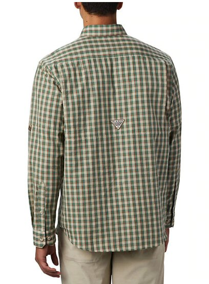 Columbia Super Sharptail Long-Sleeve Shirt-Backcountry Orange Gingham
