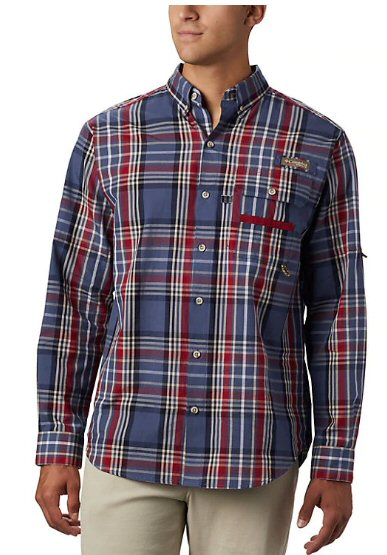 Columbia Super Sharptail PHG plaid shirt for men looks great along or layered and made for all day comfort. Shop Bennetts Clothing for Columbia to fit the entire family