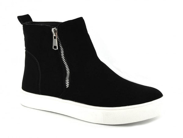 Corkys Hunt Zip-up Sneaker-Black