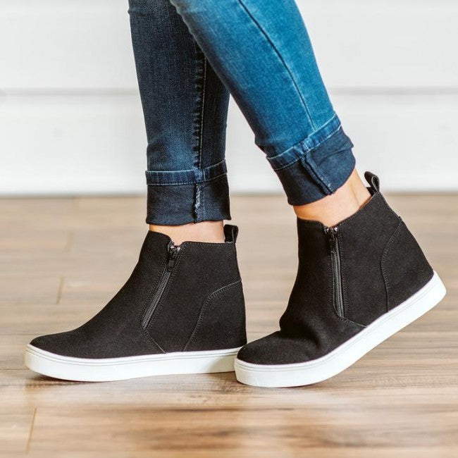 Corkys Hunt zip-up wedge sneaker takes your outfits up a step. Shop Bennetts Clothing for your cute wedges and get same day shipping