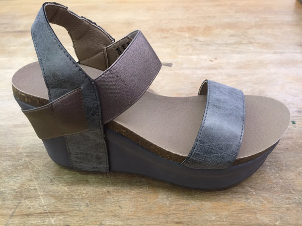 Corkys Wedge-Pewter - Bennett's Clothing - 2