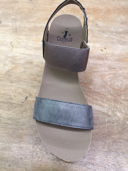 Corkys Wedge-Pewter - Bennett's Clothing - 3