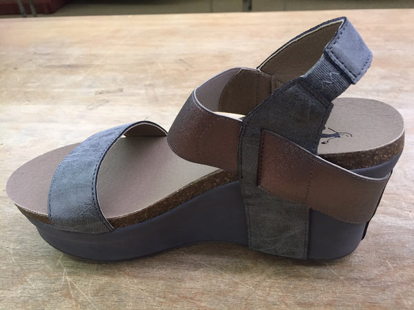 Corkys Wedge-Pewter - Bennett's Clothing - 4