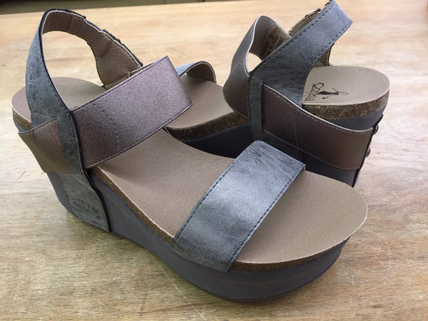 Corkys Wedge-Pewter - Bennett's Clothing - 1