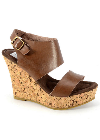 Corkys Aurora Platform Wedge-Chocolate - Bennett's Clothing