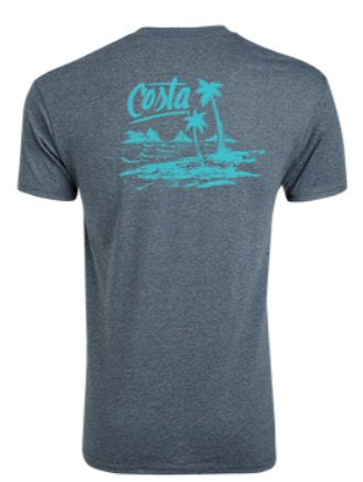 Costa Del Mar Beachside t-shirt pairs with your love for water. Shop Bennetts Clothing for a large selection of Costa gear and sunglasses with same day shipping.