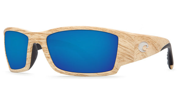 Costa Del Mar Corbina Sunglasses-Ashwood/Blue Mirror 580P