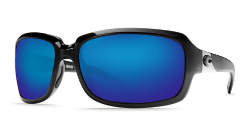 Costa Del Mar Isabela sunglasses-Black w/ Blue Mirror 400G Lens - Bennett's Clothing - 1