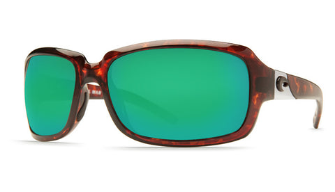 Costa Del Mar Isabela sunglasses-Tortoise w/ Green Mirror 400G Lens - Bennett's Clothing - 1