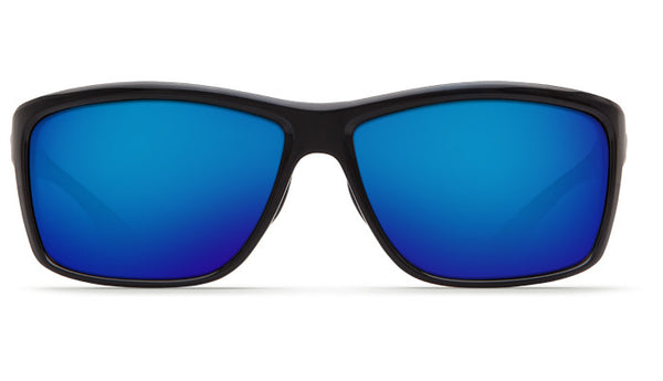 Costa Del Mar Mag Bay Sunglasses-Shiny Black w/ Blue Mirror 580P Lens - Bennett's Clothing - 3