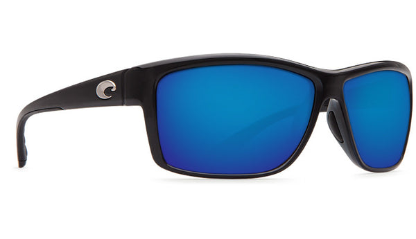 Costa Del Mar Mag Bay Sunglasses-Shiny Black w/ Blue Mirror 580P Lens - Bennett's Clothing - 4