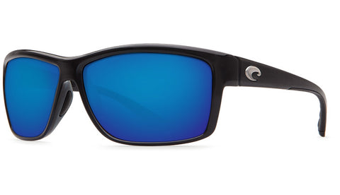 Costa Del Mar Mag Bay Sunglasses-Shiny Black w/ Blue Mirror 580P Lens - Bennett's Clothing - 1