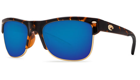 Costa Del Mar Pawleys Sunglasses-Retro Tortoise w/ 580P Blue Mirror Lens - Bennett's Clothing - 1