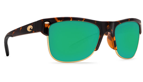 Costa Del Mar Pawleys Sunglasses-Retro Tortoise w/ 580P Green Mirror Lens - Bennett's Clothing - 4