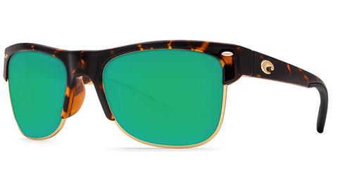 Costa Del Mar Pawleys Sunglasses-Retro Tortoise w/ 580P Green Mirror Lens - Bennett's Clothing - 1