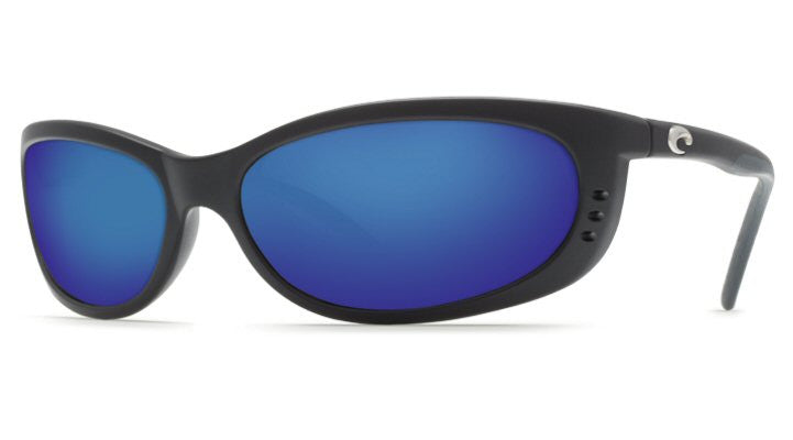 Costa Del Mar Fathom Sunglasses-Black w/ Blue Mirror 400G Lens - Bennett's Clothing - 1