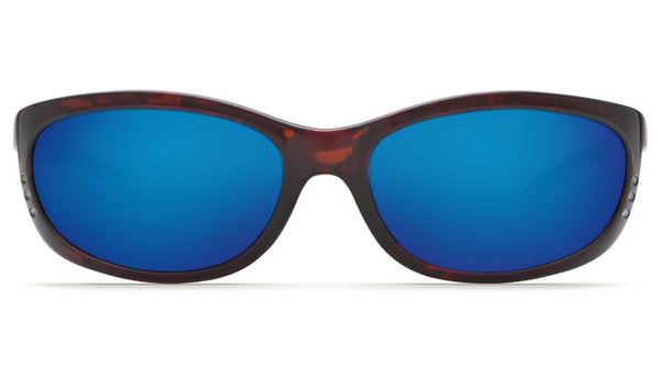 Costa Del Mar Fathom Sunglasses-Tortoise w/ Blue Mirror 400G Lens - Bennett's Clothing - 3
