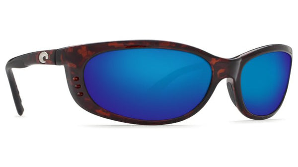 Costa Del Mar Fathom Sunglasses-Tortoise w/ Blue Mirror 400G Lens - Bennett's Clothing - 4