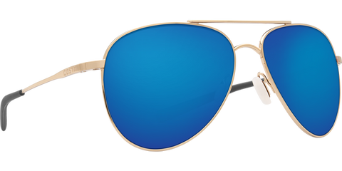 Costa Del Mar Cook Sunglasses-Gold/Blue Mirror 580P