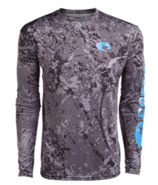Costa Del Mar Hexo Technical Long Sleeve T-Shirt-Grey