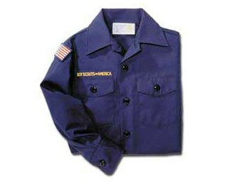 Cub Scout Long-Sleeve Uniform Shirt-Blue - Bennett's Clothing