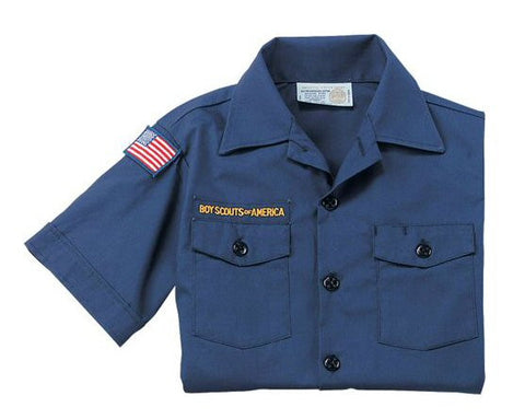 Cub Scout Short-Sleeve Uniform Shirt-Blue - Bennett's Clothing