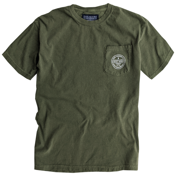 Dixie Reserve DRCO Quality Goods Short Sleeve Tee-Hunter Green