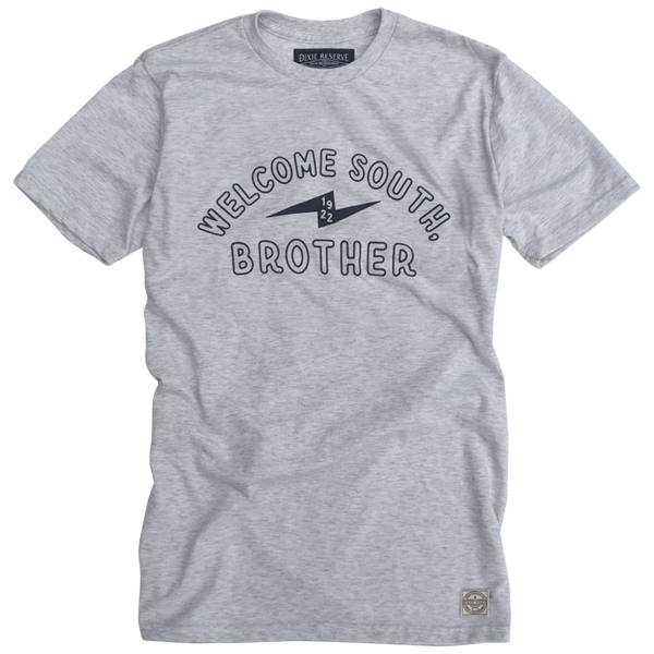 Dixie Reserve Welcome South Brother tee showcases WSB-AM (Welcome South, Brother) from 833 kHz in Atlanta. Shop Bennett's for the cool brands you want with prices you will love.