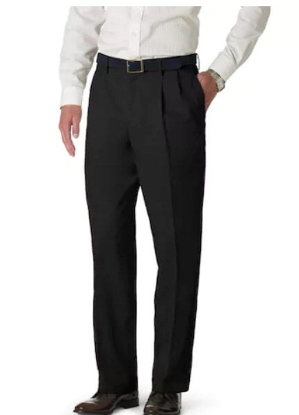 Dockers Signature Classic Fit Pleated Stretch Pant-Black