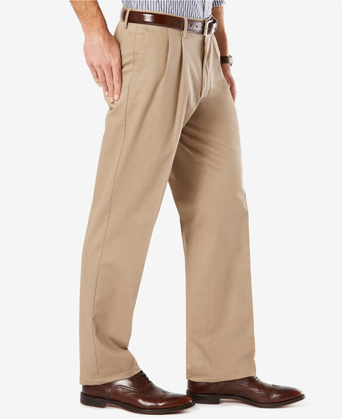 Dockers Signature Classic Fit Pleated Stretch Pant-Timberwolf - Bennett's Clothing - 3