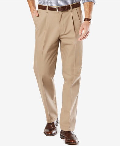 Dockers Signature Classic Fit Pleated Stretch Pant-Timberwolf - Bennett's Clothing - 1